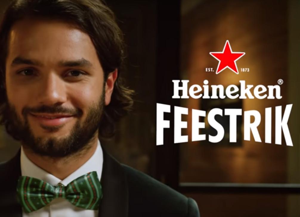 Heineken strik erom, FEEST!