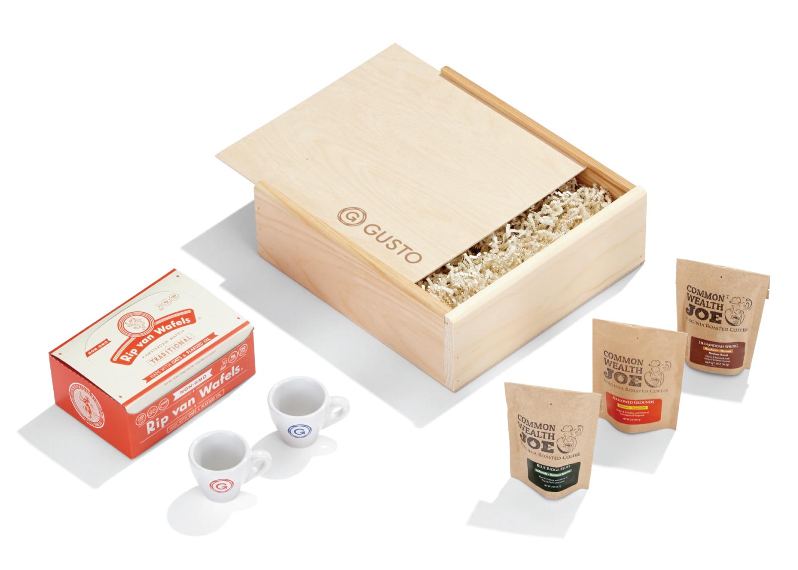 origineel kerstgeschenk koffie pakket voorbeeld
