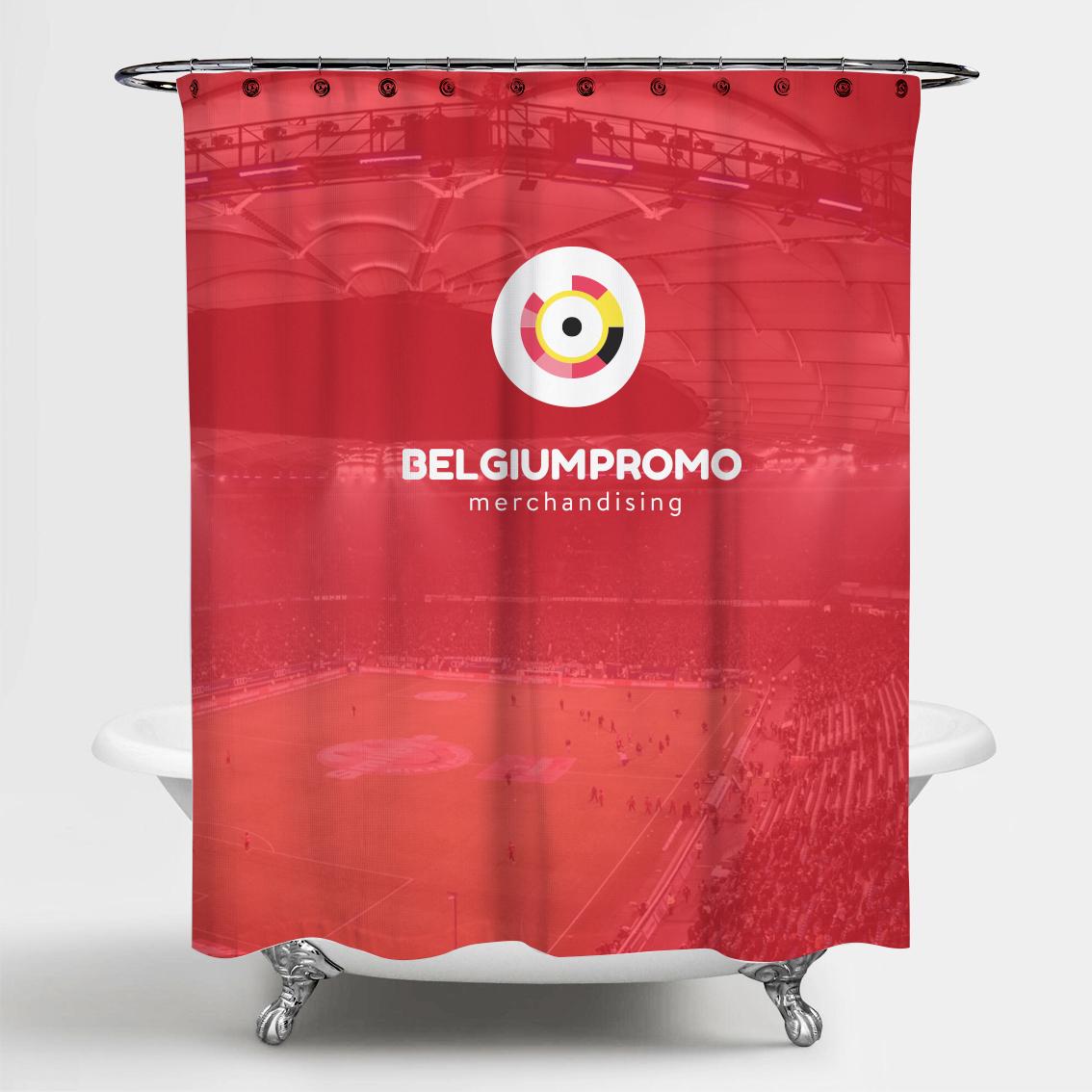 douchegordijn bedrukken belgie relatiegeschenk idee WK 2018 belgie