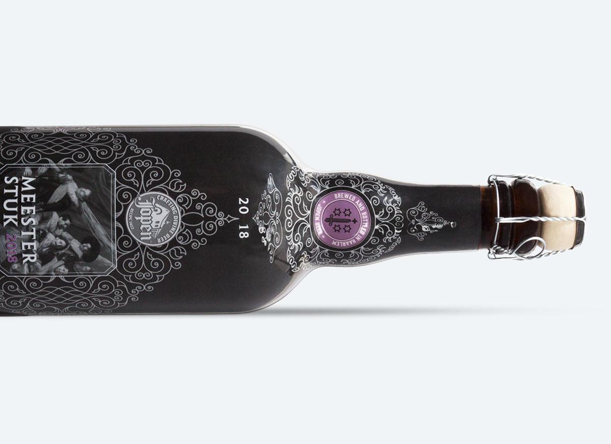 retestrak bedrukte flessen bierfles jopenbier sleeve full color