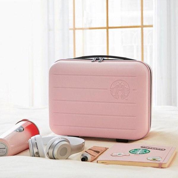 roze starbucks koffertje spaaractie korea