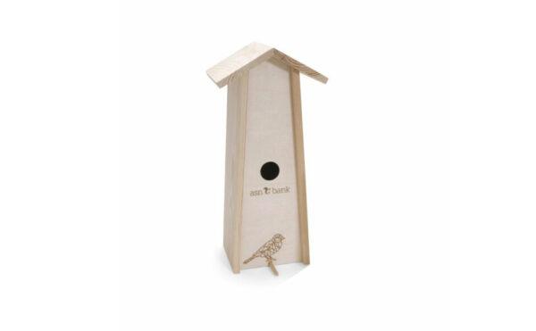 Vogelhuis wijnkist (ideaal circulair relatiegeschenk)