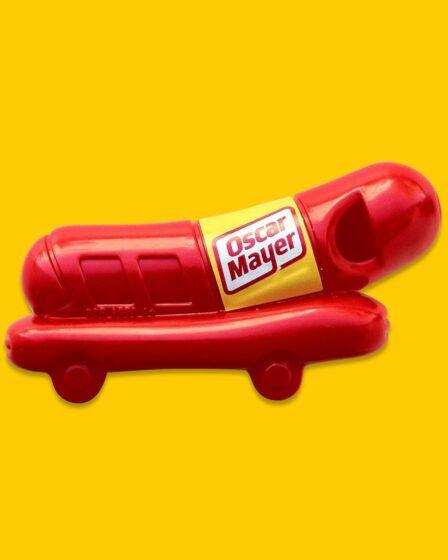 worst promotieartikelen hotdog fluitje oscar mayer